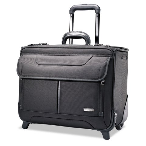 Samsonite Rolling Catalog Case 17 1/4 x 7 1/2 x 13 Black