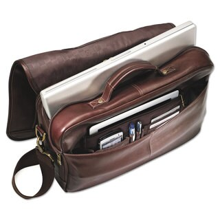 Samsonite Leather Flapover Case 16 x 6 x 13 Brown