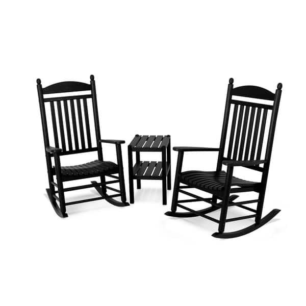 Tremendous Shop Polywood Jefferson 3 Piece Outdoor Rocking Chair Set Unemploymentrelief Wooden Chair Designs For Living Room Unemploymentrelieforg