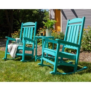 POLYWOOD Presidential 3-piece Outdoor Rocking Chair Set with Table
