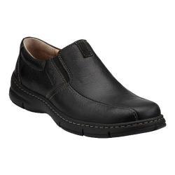 Men's Clarks Eiffel Slip-On Black Oily Leather