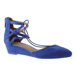 Women's Kenneth Cole Reaction Why Not Ghillie Flat Cobalt Suede