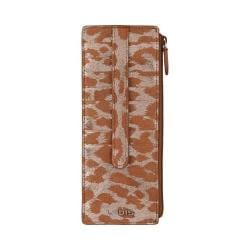 Women's Lodis Sophia Safari Credit Card Case With Zipper Pocket Silver