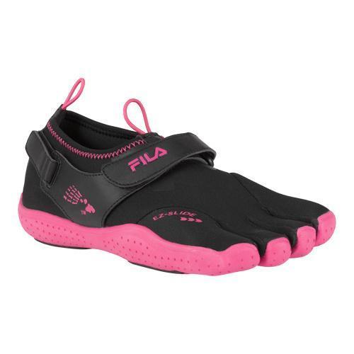 Shop Women S Fila Skele Toes Ez Slide Drainage Black Hot