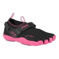 Women's Fila Skele-Toes EZ Slide Drainage Black/Hot Pink
