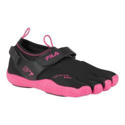 Women's Fila Skele-Toes EZ Slide Drainage Black/Hot Pink