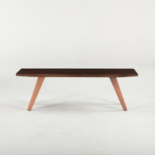 Phoenix Hand-crafted Copper Acacia Wood Dining Bench