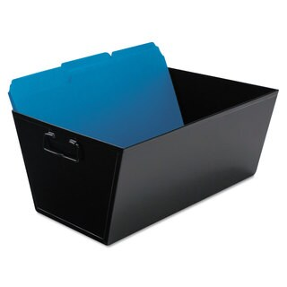 Advantus Steel File and Storage Bin Legal 15 1/4 x 11 1/4 x 7 1/4 Black