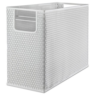 Artistic Urban Collection Punched Metal Desktop File 13 x 5 3/4 x 10 3/4 White