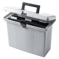 Pendaflex Portafile File Storage Box Letter Plastic 14-7/8 x 6-1/2 x 11-7/8 Granite