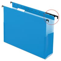Pendaflex SureHook Reinforced Hanging Box Files 2 inches Exp with Sides Letter Blue 25/Box