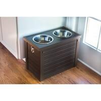 ecoFLEX Raised Dog Diner with Storage