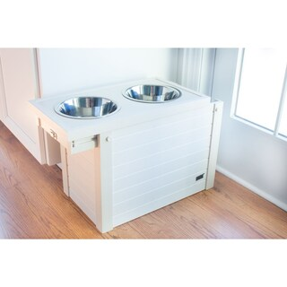 ecoFlex Raised Dog Diner with Storage