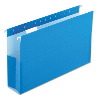 Pendaflex SureHook Reinforced Hanging Box Files 3-inch Expansion Legal Blue 25/Box