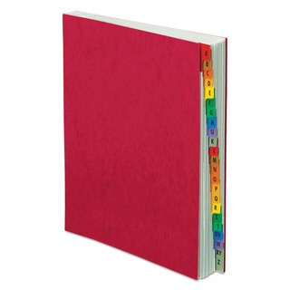 Pendaflex PressGuard Expanding Desk File A-Z Letter Acrylic-Coated Pressboard Red