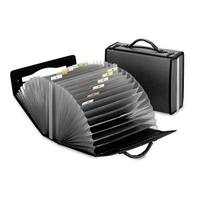 Pendaflex Portafile 26-Pocket Document Carrying Case 4 5/8 x 13 1/8 x 10 1/4 Smoke