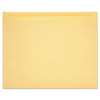 Quality Park Paper File Jackets 9 1/2 x 11 3/4 28 -pound Manila Buff 100/Box