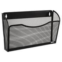 Rolodex Single Pocket Wire Mesh Wall File Letter Black