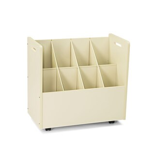 Safco Laminate Mobile Roll Files Eight Compartments 30-1/8 x 15-3/4 x 29-1/4 Putty
