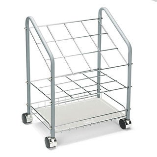 Safco Wire Roll/File 12 Compartments 18-inch wide x 12-3/4-inch deep x 24-1/2-inch high Grey