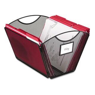 Safco Onyx Mesh Desktop Tub File Storage Box Letter Black