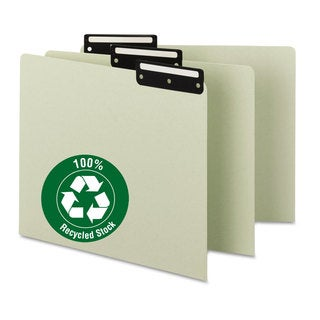 Smead Recycled Tab File Guides Blank 1/3 Tab Pressboard Letter 50/Box