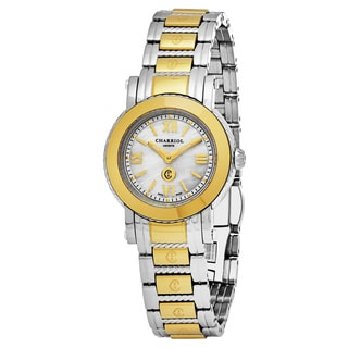 Charriol Women's P28Y1.P28Y1.005 'Parisi' Mother of Pearl Dial Two Tone Stainless Steel Swiss Quartz Watch