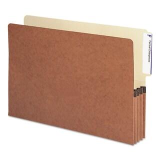 Smead 3 1/2 inches Exp File Pockets 1/3 Tab Legal Manila/Redrope 10/Box