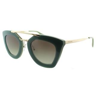 Prada Cinema Women's PR 09QS TKQ4K1 Opal Dark Green Fashion Sunglasses (As Is Item)