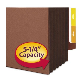 Smead 5 1/4-inch Exp File Pockets Straight Tab Legal Brown 10/Box