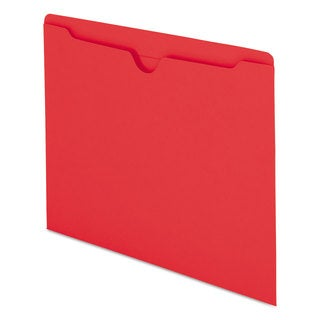 Smead Colored File Jackets with Reinforced 2-Ply Tab Letter 11pt Red 100/Box