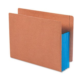 Smead 3 1/2 inches Exp File Pockets Straight Tab Letter Blue 10/Box
