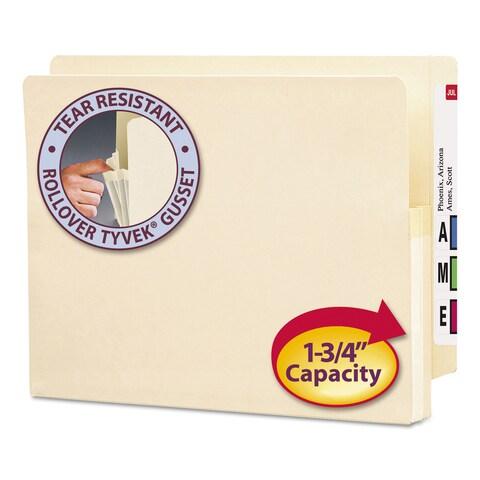 Smead 1 3/4-inch Exp End Tab File Pocket Straight Tab Letter Manila 25/Box