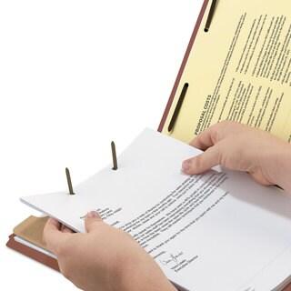 Smead Pressboard Classification Folder 1 Divider 2-inch Exp. 2/5 Cut Ltr Red 10/Box
