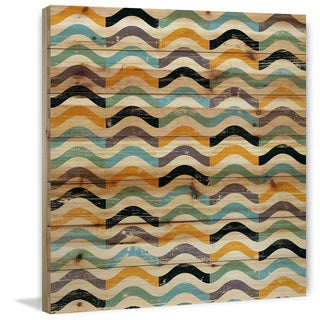 Marmont Hill - Handmade Squiggles Painting Print on Natural Pine Wood