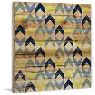Marmont Hill - Handmade Floating Squares Painting Print on Natural Pine Wood