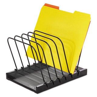 Rolodex Mesh Flip File Folder Sorter Five Sections Black 10 1/4 x 7 1/2 x 7 1/2