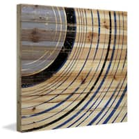 Marmont Hill - 'Side Section' Painting Print on Natural Pine Wood