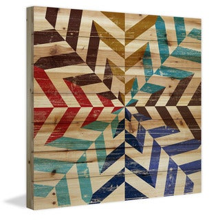 Link to Marmont Hill - Handmade Kaleidoscope Painting Print on Natural Pine Wood Similar Items in Wall Sculptures