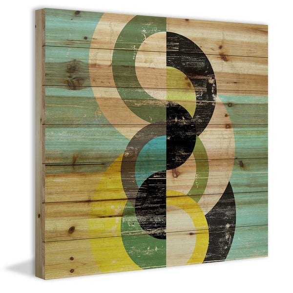 Marmont Hill - Handmade Separated Circles Painting Print on Natural Pine Wood