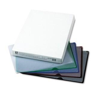C-Line Deluxe Project Jacket Folders Letter Vinyl Black/Blue/Clear/Green/Red 35/Box