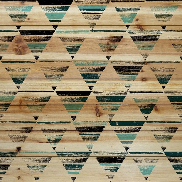 Marmont Hill - Handmade Shaded Triangles Painting Print on Natural Pine Wood