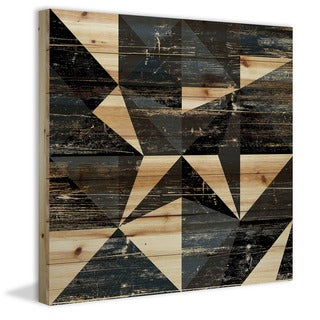 Marmont Hill - Handmade Dimensional Star Painting Print on Natural Pine Wood