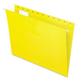 Pendaflex Essentials Colored Hanging Folders 1/5 Tab Letter Yellow 25/Box
