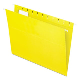 Link to Pendaflex Essentials Colored Hanging Folders 1/5 Tab Letter Yellow 25/Box Similar Items in Binders