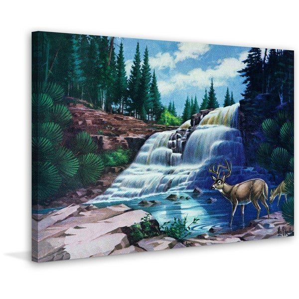 Marmont Hill - 'Gooseberry Falls' Painting Print on Wrapped Canvas