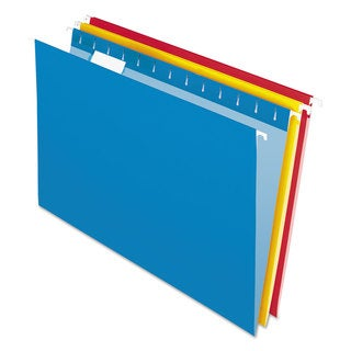 Pendaflex Essentials Colored Hanging Folders 1/5 Tab Legal Assorted Colors 25/Box