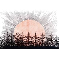 Marmont Hill - 'Sunrise' Painting Print on Wrapped Canvas - White