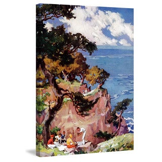 Marmont Hill - 'Oceanside Picnic' Painting Print on Wrapped Canvas