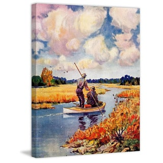 Marmont Hill - 'Marsh Hunting' Painting Print on Wrapped Canvas